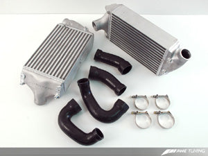 AWE Performance Intercoolers for Porsche 997 Turbo / GT2 - Black Hoses