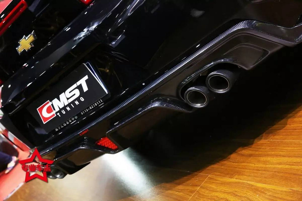 CMST Chevrolet Camaro 2016-2020 Carbon Fiber Rear Diffuser(Quad Tips)
