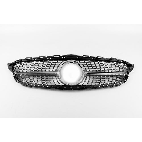 Future Design Carbon ABS Front Grill Diamond Style For Mercedes Benz C300 C450 C45 with Sport Package W205 2015-ON