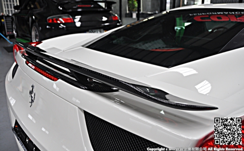 Future Design Carbon Ferrari 458 Carbon Fiber Rear Spoiler Wing