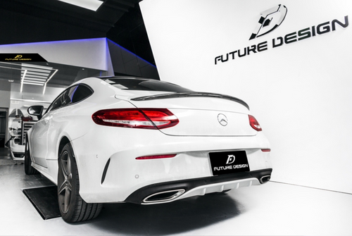 Future Design Carbon W205 / C63 AMG C Coupe 2015-ON Carbon Fiber Rear Spoiler Ver.1