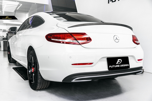 Future Design Carbon W205 / C63 AMG C Coupe 2015-ON Carbon Fiber Rear Spoiler Ver.4