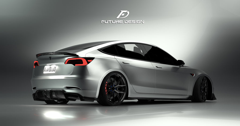Future Design Tesla Model 3 Carbon Fiber Side Skirts
