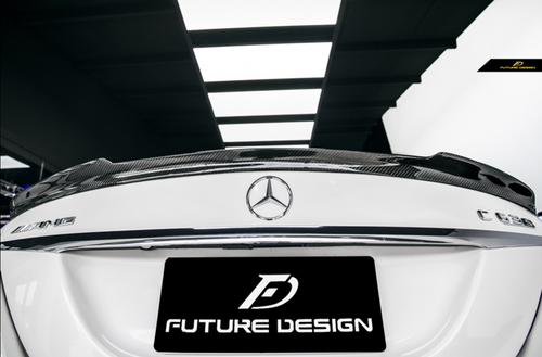 Future Design Carbon W205 / C63 AMG / AMG Sport Package Sedan 2015-ON Carbon Fiber Rear Spoiler Ver.4