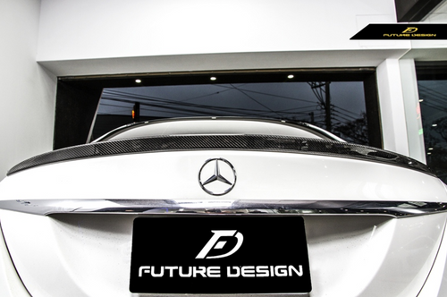 Future Design Carbon W205 / C63 AMG / AMG Sport Package Sedan 2015-ON Carbon Fiber Rear Spoiler Ver.7