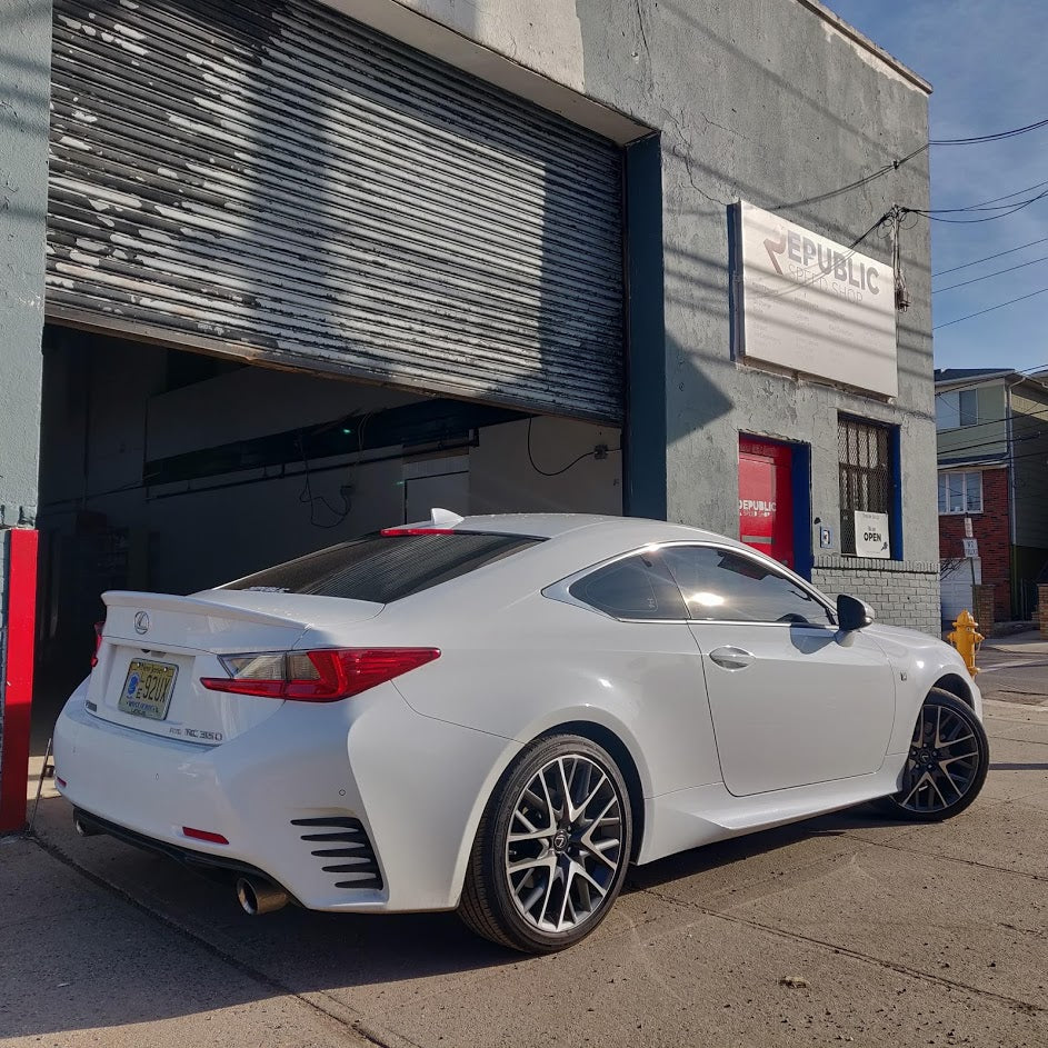 Aero Republic Lexus RC350 RC200 RCF Carbon Arch Guards Mud Flaps