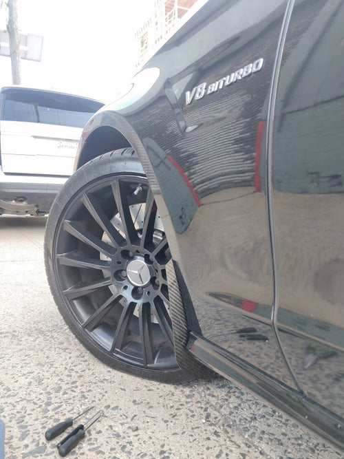 Aero Republic Mercedes Benz Carbon Fiber Front Arch Guards Mud Flaps