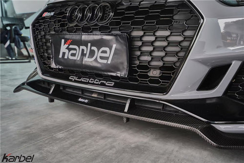 Karbel Dry Carbon Fiber Front Lip For Audi RS5 B9 2018-ON