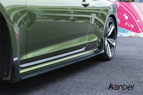 Karbel Dry Carbon Fiber Side Skirts For Audi RS5 B9 2018-ON