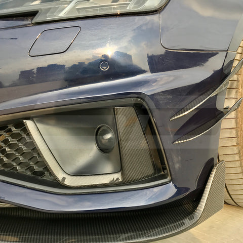 SD Carbon Carbon Fiber Fog Light Cover For Audi A4 S4 2020-ON B9.5