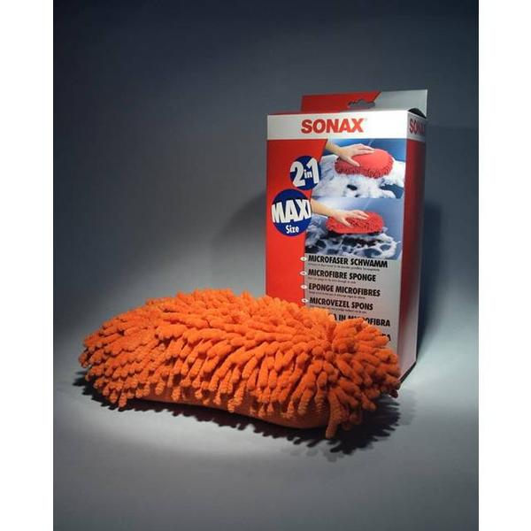 SONAX Microfiber Car Wash Sponge Red   1 pc