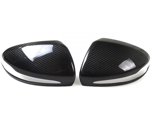 Mercedes Benz W205 / W213 / W222 / X205 Forged Carbon Fiber Mirror Trim Cover (3 Options)