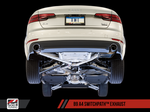AWE EXHAUST SUITE FOR AUDI B9 A4 2.0T (SKU: GRP-EXH-AUB9A420T1)