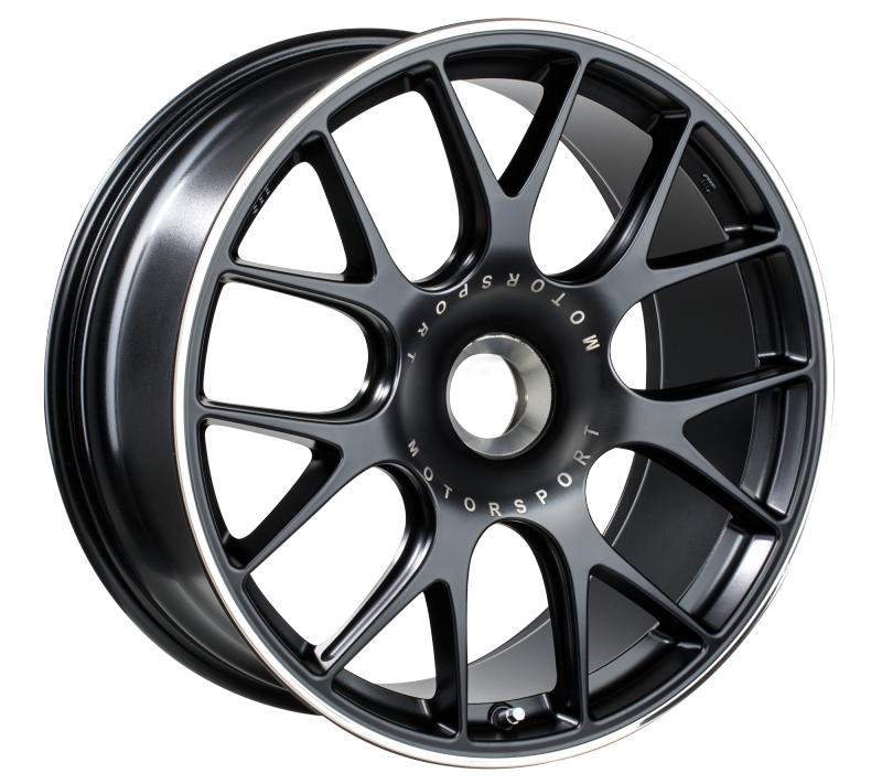 BBS CH-R 20x9 CL ET51 CB84 Satin Black Polished Rim Protector Wheel
