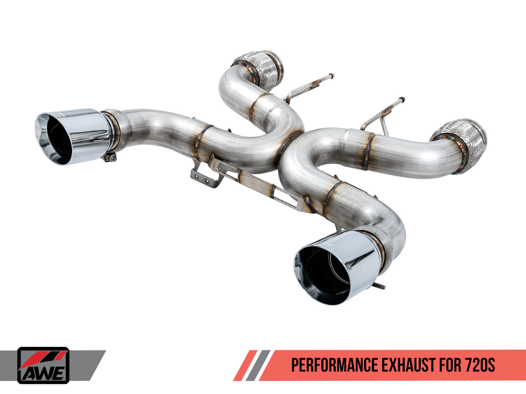 AWE Performance Downpipes for McLaren 720S (HJS 200 Cell Cats)