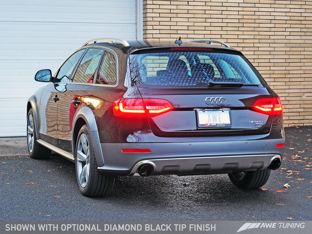 AWE Touring Edition Exhaust for B8.5 Allroad - Dual Outlet, Diamond Black Tips