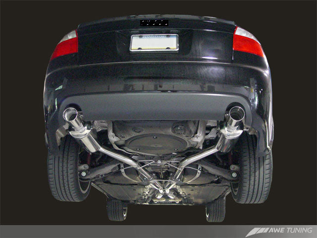 AWE Track Edition Exhaust for B6 A4 3.0L - Diamond Black Tips