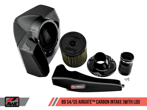 AWE AirGate™ Carbon Fiber Intake for Audi B9 3.0T / 2.9TT - Without Lid