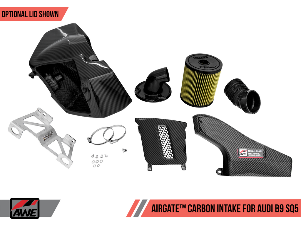 AWE AirGate? Carbon Fiber Intake for Audi B9 SQ5 3.0T - Without Lid