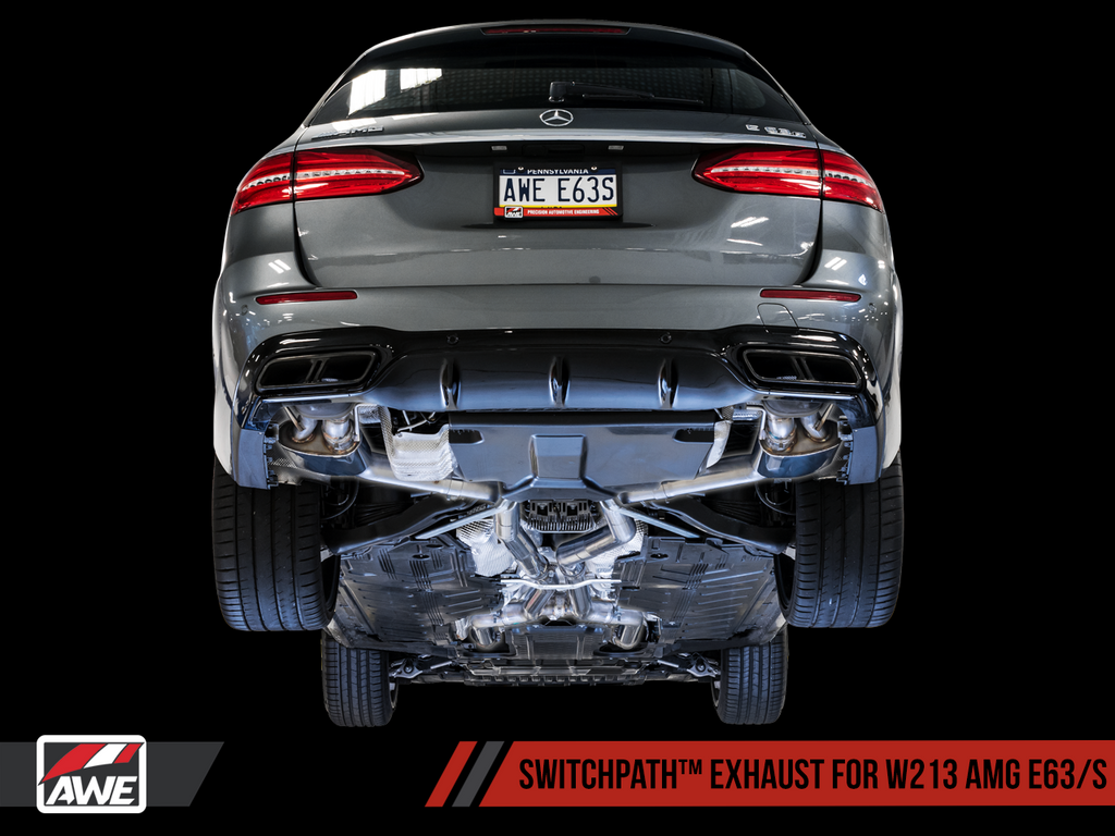 AWE SwitchPath™ Exhaust for W213 AMG E63/S Sedan / Wagon (for Non-AMG Performance Exhaust Cars)
