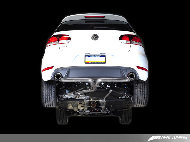 AWE Performance Catback Exhaust for Mk6 GTI - Chrome Silver Round Tips