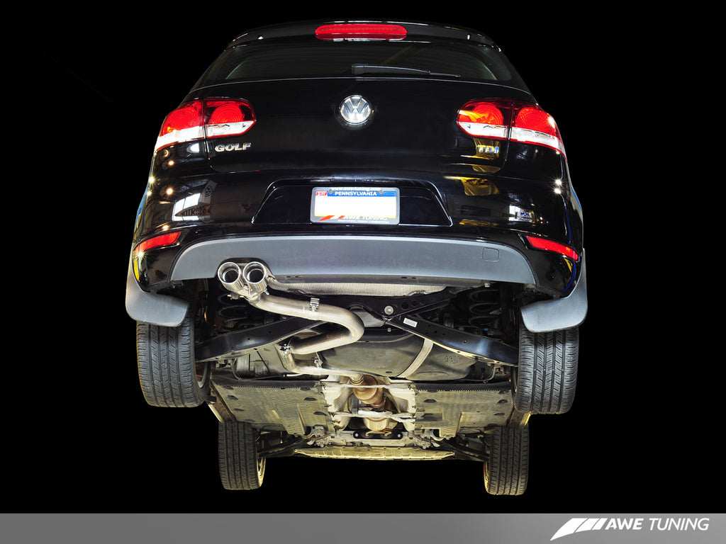 AWE Performance Exhaust for MK6 Golf TDI - Polished Silver Tips