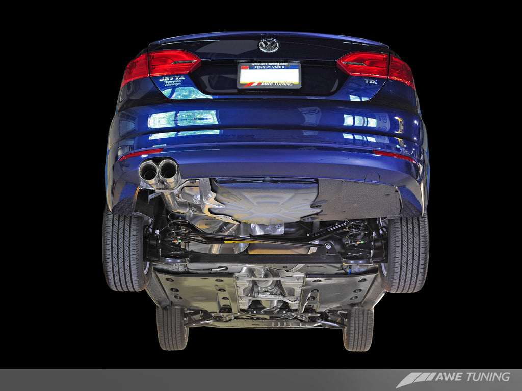 AWE Touring Edition Exhaust for MK6 Jetta TDI - Polished Silver Tips
