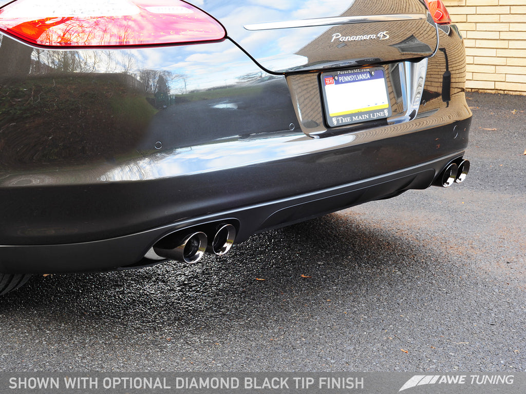 AWE Touring Edition Exhaust System for Porsche 970 Panamera S/4S - Diamond Black Tips