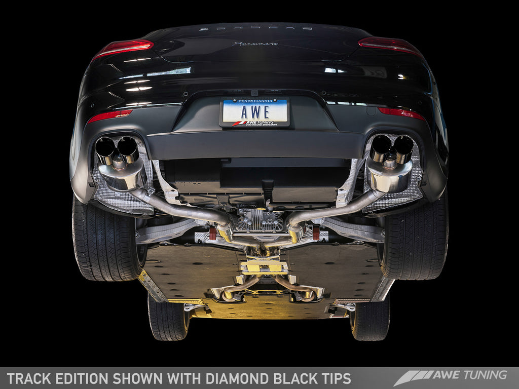 AWE Touring Edition Exhaust for 970 Panamera 2/4 (2014+) -- With Diamond Black Tips
