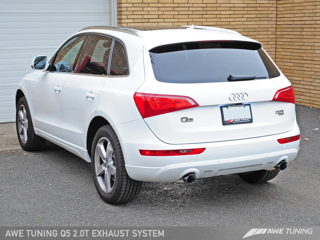 AWE Touring Edition Exhaust for 8R Q5 2.0T - Diamond Black Tips