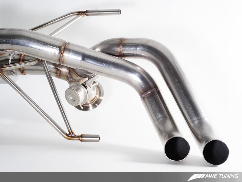 AWE Straight Pipe Exhaust for Audi R8 4.2L