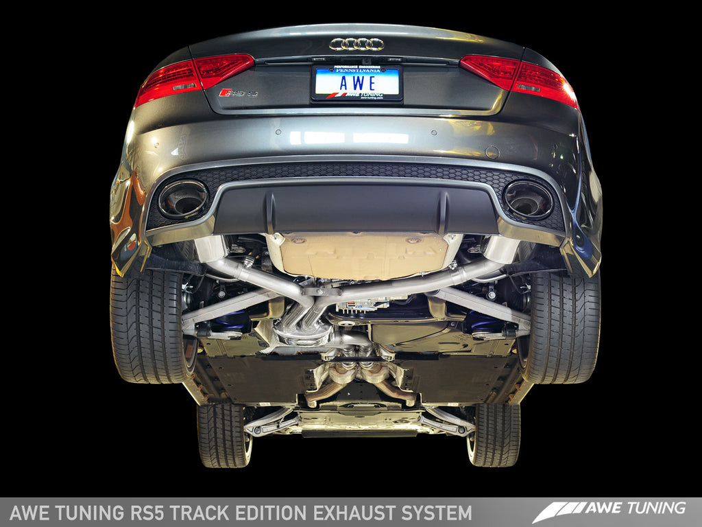 AWE Non-Resonated Downpipes for Audi B8 RS5