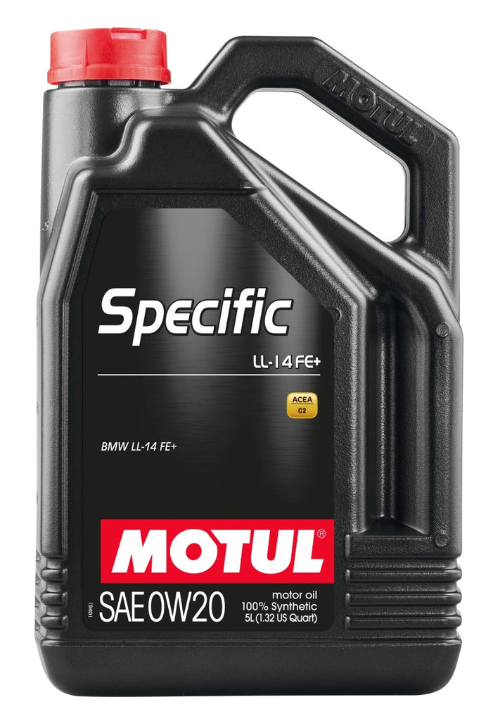 Motul 5L 100% Synthetic High Performance Engine Oil ACEA A1/B1 BMW Specific LL-14 FE+ 0W20 4x5L