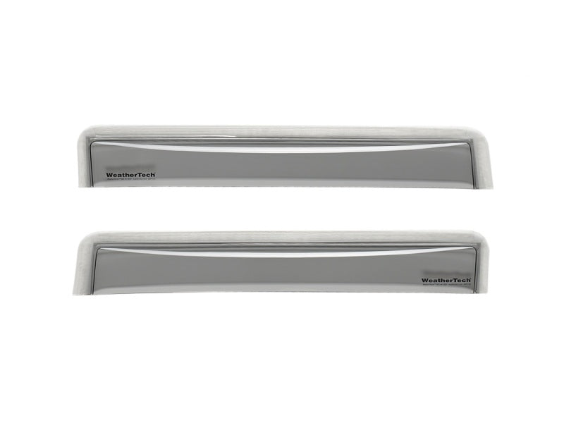 WeatherTech 11-17 Audi A8L Rear Side Window Deflectors - Light Smoke