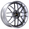 BBS RS-GT 19x10 5x120 ET25 Diamond Black Center Diamond Cut Lip Wheel -82mm PFS/Clip Required