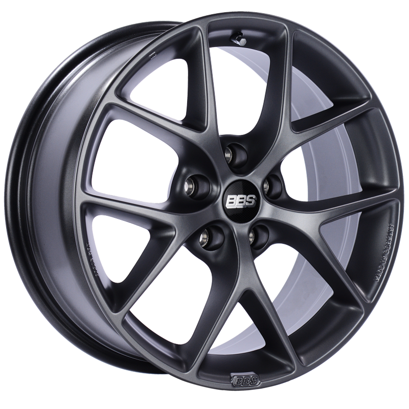 BBS SR 17x7.5 5x120 ET35 Satin Grey Wheel -82mm PFS/Clip Required