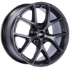 BBS SR 19x8.5 5x120 ET32 Satin Grey Wheel -82mm PFS/Clip Required