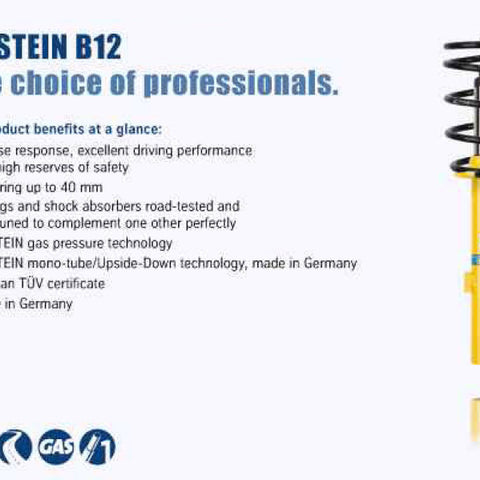 Bilstein B12 15-16 Audi S3 Prestige L4 2.0L/Premium Plus L4 2.0L Front and Rear Suspension Kit