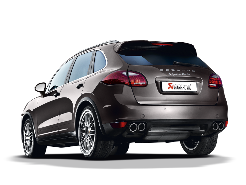 Akrapovic 10-14 Porsche Cayenne Turbo (958) Evolution Line Cat Back (Titanium) (Req. Tips)