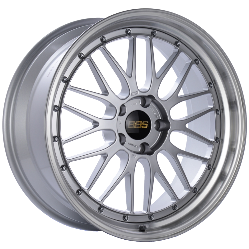 BBS LM 20x9 5x120 ET15 Diamond Silver Center Diamond Cut Lip Wheel -82mm PFS/Clip Required