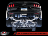 AWE SwitchPath™ Cat-back Exhaust for 15-17 S550 Mustang GT - Quad Outlet - Diamond Black Tips (GT350 Valance)