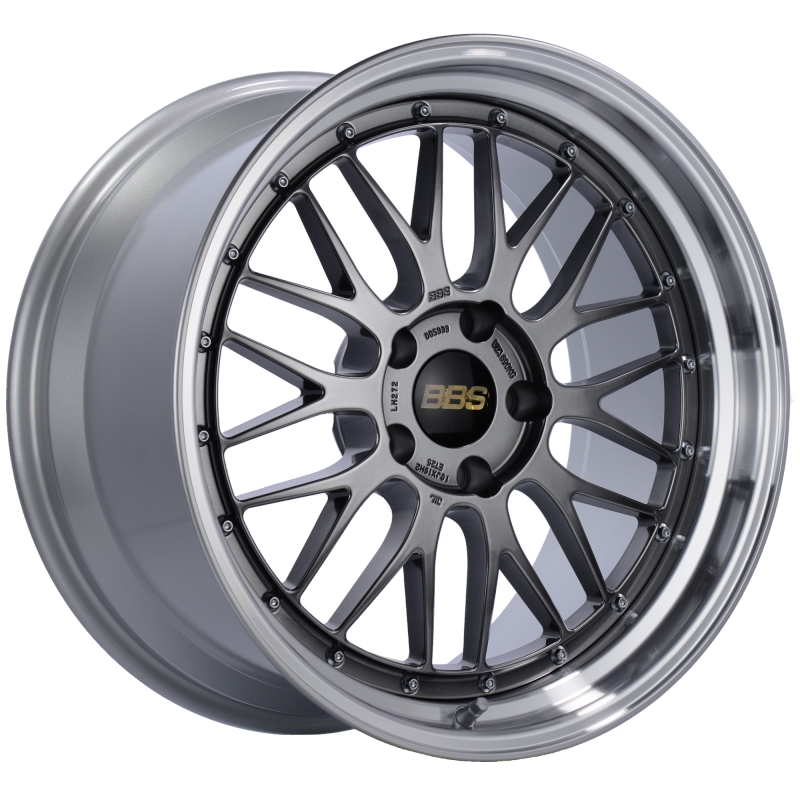 BBS LM 19x10 5x120 ET25 Diamond Black Center Diamond Cut Lip Wheel -82mm PFS/Clip Required