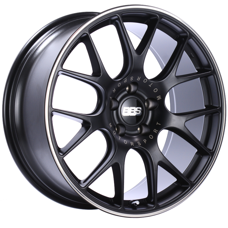 BBS CH-R 20x9 5x120 ET24 Satin Black Polished Rim Protector Wheel -82mm PFS/Clip Required