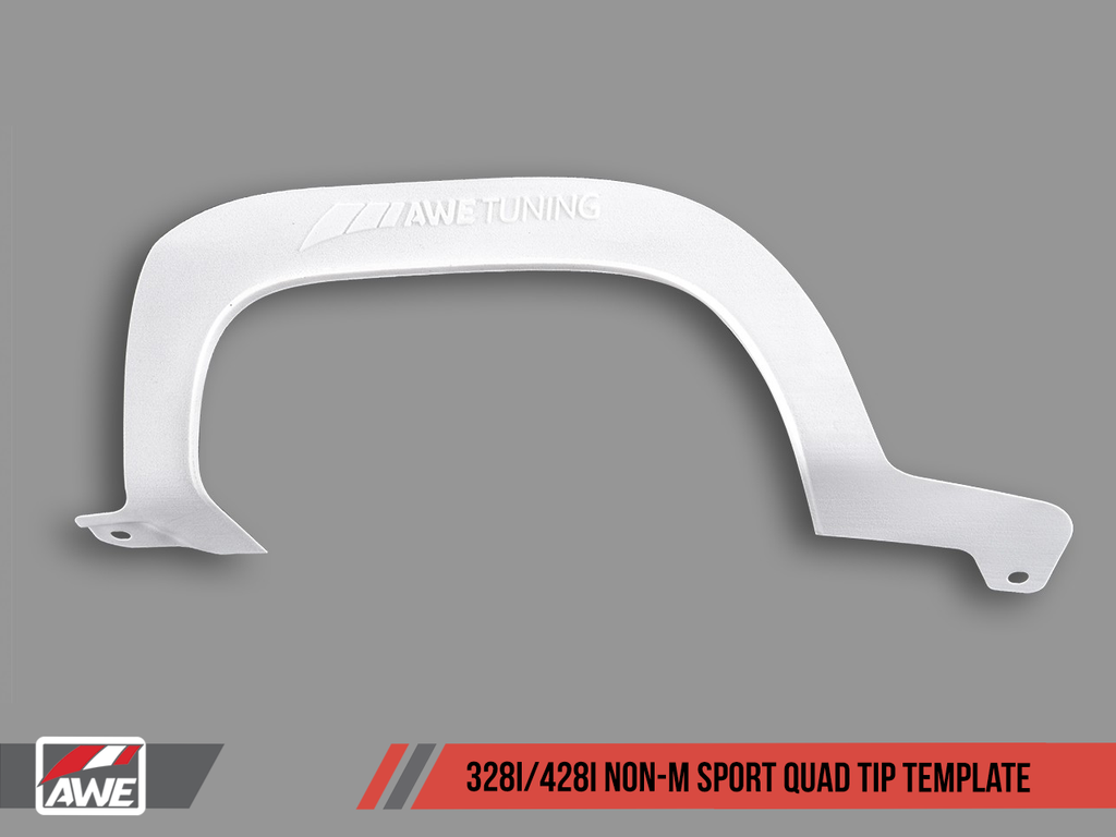 AWE Quad Tip Marking Template for BMW F3X 328i M Sport