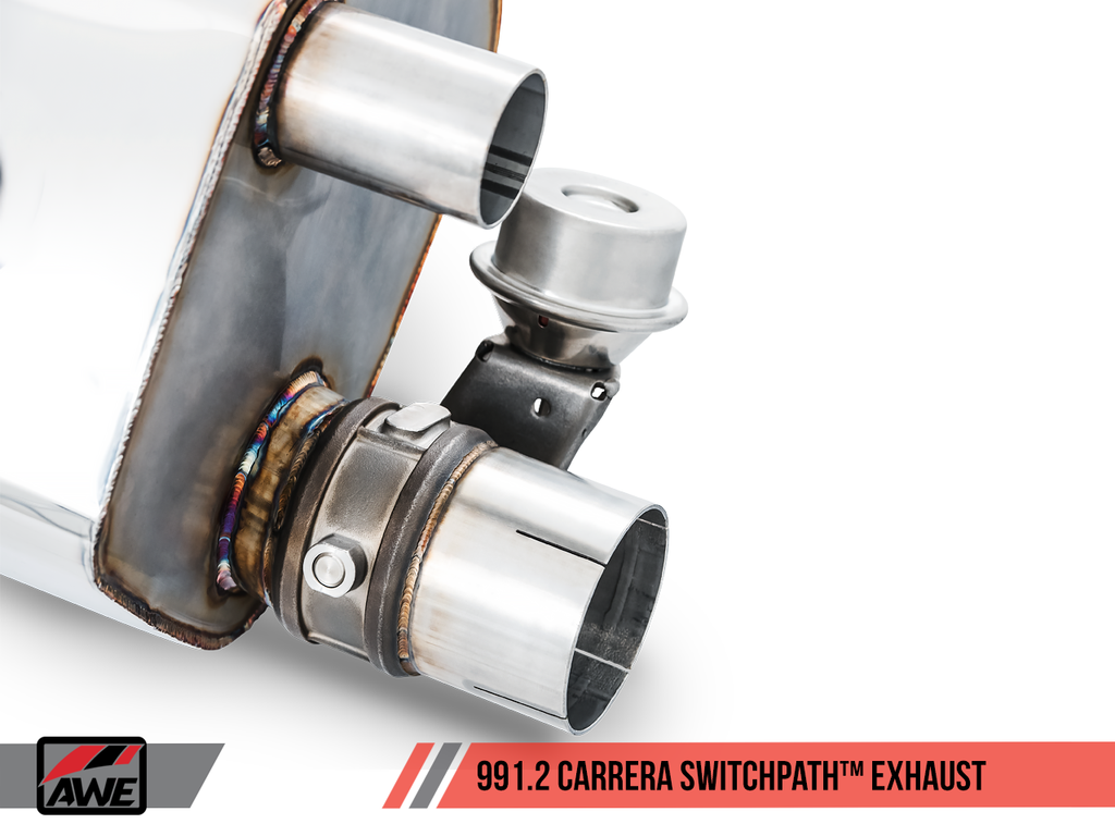 AWE SwitchPath? Exhaust for 991.2 Carrera / S / GTS with PSE - Diamond Black Tips