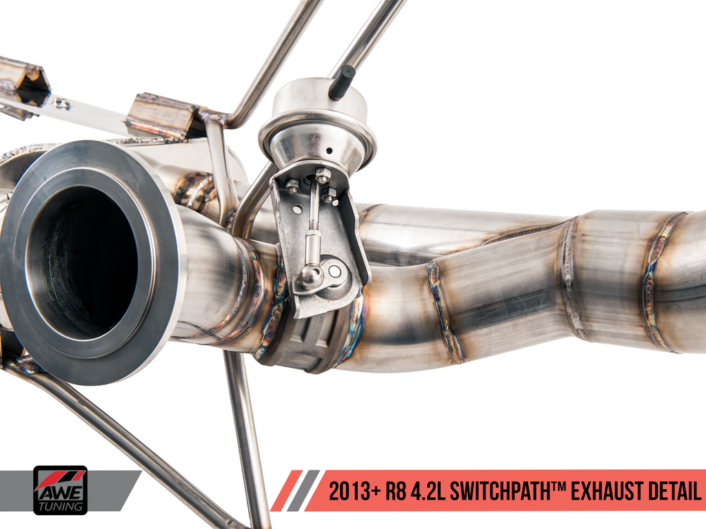 AWE Straight Pipe Exhaust Audi R8 4.2L (2014+)