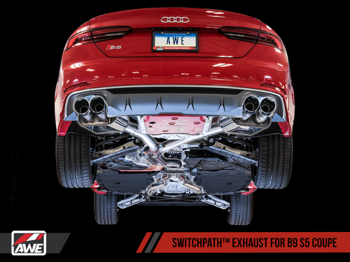 AWE EXHAUST SUITE FOR AUDI B9 S5 COUPE 3.0T (SKU: GRP-EXH-AUB9S530T1)