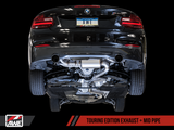 AWE Touring Edition Axle Back Exhaust for BMW F22 235i / 240i - Carbon Fiber Tips