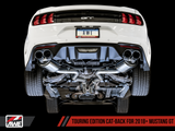 AWE Touring Edition Cat-back Exhaust for the 2018+ Mustang GT - Quad Diamond Black Tips