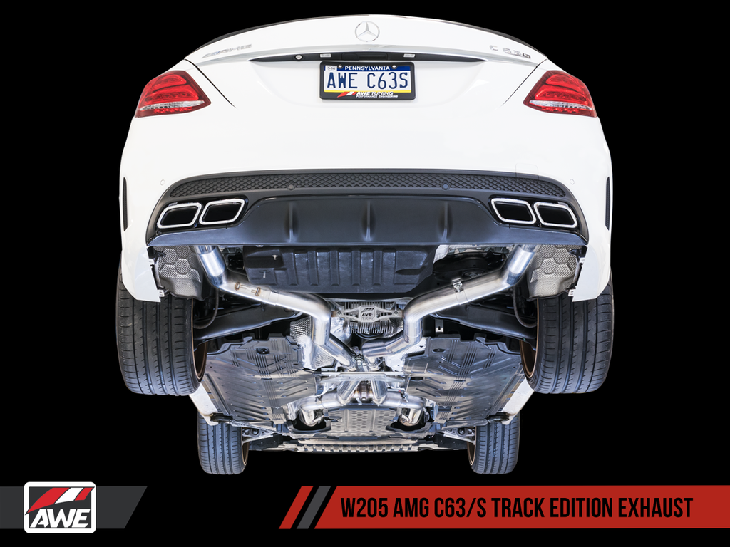 AWE Machined Exhaust Tips for Mercedes-Benz AMG C63 - Diamond Black
